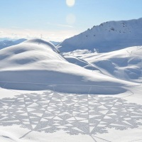 Arctic Land Art by Simon Beck
