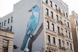 Pinyon Jay by Mary Lacy (Audubon street murals)